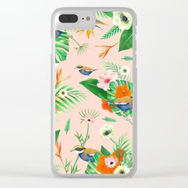 Jewel of The Forest - Pink Clear iPhone Case