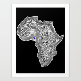 ROOTED (NIGERIA) 1.1 Art Print
