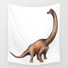 Realistic watercolor dinosaur Wall Tapestry