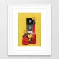 russian Framed Art Prints featuring Russian by Karen Constance Collage and Paintings
