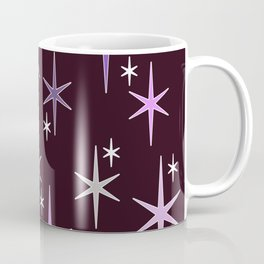 Mid Century Modern Star Sky Purple Coffee Mug