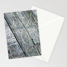 graffiti wood Stationery Cards