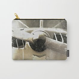 Antique Airplane Nose Carry-All Pouch
