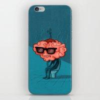 brain iPhone & iPod Skins featuring Brain by Julia Sanz