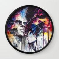 agnes Wall Clocks featuring la nostra infinita abnegazione  by agnes-cecile