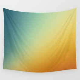 Gradient Colours: Orange Blue Wall Tapestry