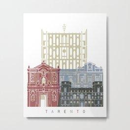 Tarento skyline poster Metal Print