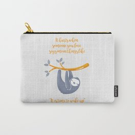Sleeping is the best thing! Carry-All Pouch