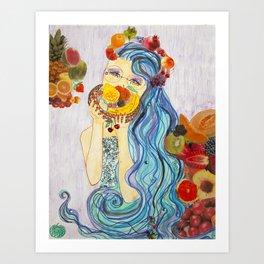 underwater market Art Print