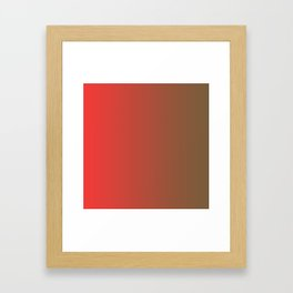 Brown and Red Gradient 016 Framed Art Print