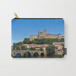 Old cathedral and bridge in Beziers, southern France Carry-All Pouch
