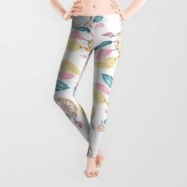 Hand painted watercolor pastel boho dreamcatcher pattern Leggings