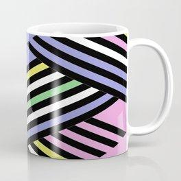 Criss Cross - Pop Art Style Geometric Criss Crossed Lines Coffee Mug