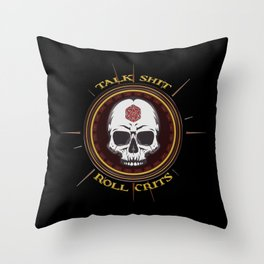 D&D - Roll Crits Throw Pillow