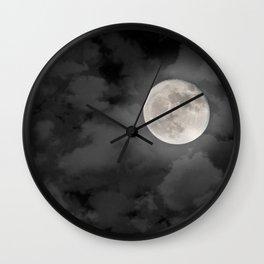 Cloudy Moonlit Night Wall Clock