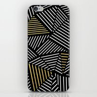 A Linear Black Gold iPhone Skin