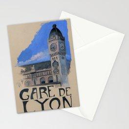 Gare de Lyon - Paris Metro poster Stationery Cards