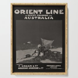 Affiche Orient Line Egypt Colombo Australia Serving Tray