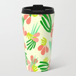 Henri's Garden in lemongrass // tropical flora pattern Travel Mug