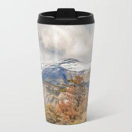 Forest and Snowy Mountains, Patagonia, Argentina Travel Mug