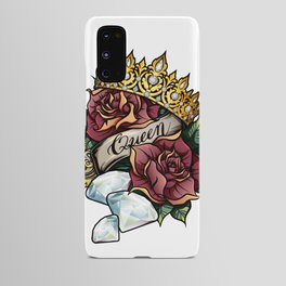 Queen of Diamonds vector tattoo illustration Android Case