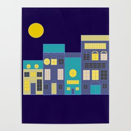 Little houses by night Poster
