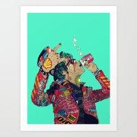 boneface Art Prints featuring Enemy by boneface