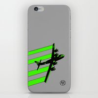 airplane iPhone & iPod Skins featuring airplane by ruizspeaces