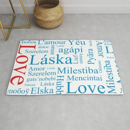 Word Love in different languages Rug