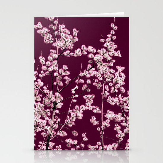 willow catkin III Stationery Cards