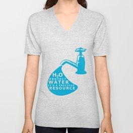 WATER CONSERVATION Unisex V-Neck