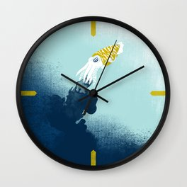 Intelligent Inker - Cranky Cuttlefish Wall Clock