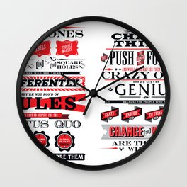 """Steve Jobs """"Here's to the crazy ones"""" quote print Wall Clock"""