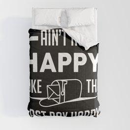 Postman Post Office Work Funny Last Box Happy Gift Comforters