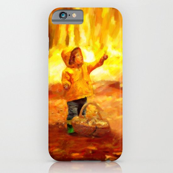 The Little Collector - Painting Style iPhone & iPod Case