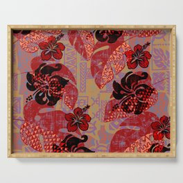 On Fire Kona Tropical Floral Serving Tray