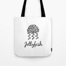 Jellyfish B&W Tote Bag