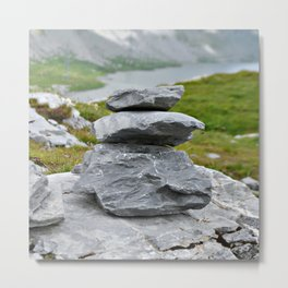 Zen stones in the mountains Metal Print