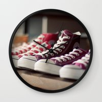 converse Wall Clocks featuring Converse by whitney b
