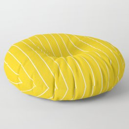 Yellow with White Pinstripes Floor Pillow