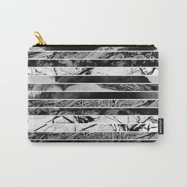 Black And White Layered Collage - Textured, mixed media Carry-All Pouch