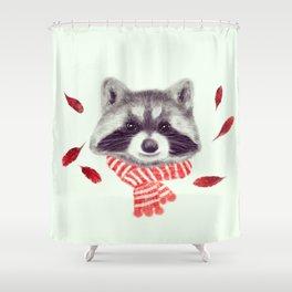 Indi raccoon Shower Curtain