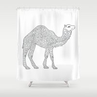 camel Shower Curtains featuring Camel by Emmy