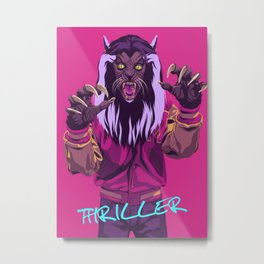THRILLER - Werewolf Version Metal Print