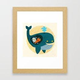 Jonah and The Whale Framed Art Print