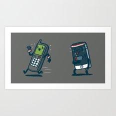 Running Out Of Battery Art Print