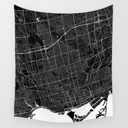 Toronto - Minimalist City Map Wall Tapestry