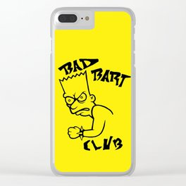 BAD BART CLUB Clear iPhone Case