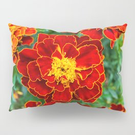Red Tagetes lucida Pillow Sham