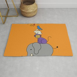 Four harmonious Friends Rug